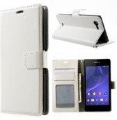Cyclone wallet hoesje Wallet hoesje Sony Xperia E3 wit