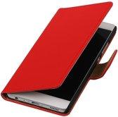 Rood Effen booktype cover hoesje voor LG K4