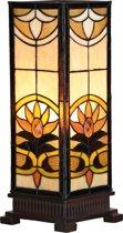 Tafellamp Tiffany 18*45 cm 1x E27 / Max 60W Multi | 5LL-5780 | Clayre & Eef