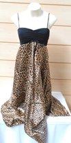 Luipaarden jurkje met voorgevormde pads, luipaardenprint