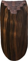 Remy Human Hair extensions Double Weft straight 22 - bruin 2/4/6#