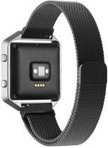 Milanese Loop rvs zwart bandje voor de Fitbit Blaze Watchbands-shop.nl