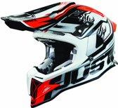 JUST1 Helmet J12 Dominator White-Red 54-XS