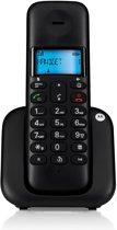 Motorola T301 Uitgebreide Single Set - NL - DECT Telefoon met Handsfree en Display Verlichting - Zwart