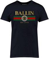 Ballin Est. 2013 - Heren Tee SS Line Small Shirt - Blauw - Maat S