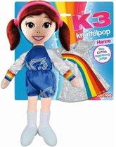 K3 knuffelpop met extra kleedje 40cm Hanne