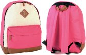 "Borderline Rugzak Rugtas ""Sheep"" Roze School Werk Tas met fleece Heel hip!"