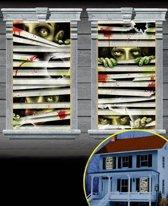 """2 Raam Decoratie """"Horror Eyes"""" 85 x 165 cm"""