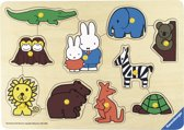 Ravensburger  Speelplank nijntje in de dierentuin - houten puzzel - 10 stukjes - kinderpuzzel
