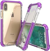 Mobigear Tough Case Hoesje Transparant / Paars Apple iPhone X / Xs