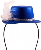 Metallic blauw mini hoedje