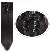 Synthetic Clip In HairExtensions sets kleur 2 Donkerbruin 60cm 140 gram