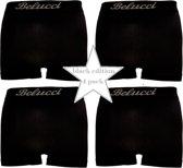 Belucci heren boxershorts set van 4 stuks zwart maat M/L