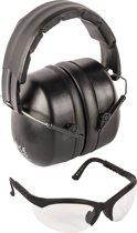 Luxe set gehoorbeschermer en veiligheidsbril