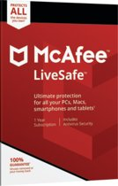 McAfee LiveSafe | Unlimited Devices | 1 Jaar | Engelse verpakking | Alle Europese talen
