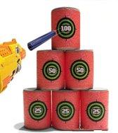 Foam Blik Schietschijf Targets Voor Nerf Gun Schietspel - 6 Stuks  - 25/50/100 Punten Schiet Tonnen