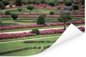 De tuin van het Kasteel van Chenonceau Poster 180x120 cm - Foto print op Poster (wanddecoratie woonkamer / slaapkamer) XXL / Groot formaat!