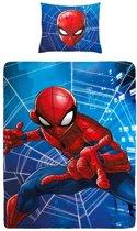 Spiderman - Dekbedovertrek - Junior - 120x150 cm + 1 kussensloop 60x70 cm - Blue