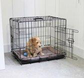 Adori Draadkooi Hondenbench 2 Deurs - Maat M 92x57x64 cm - Zwart