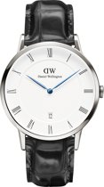 Daniel Wellington Dapper Reading DW00200108 - Horloge - Leer - Zwart - Ø 38 mm