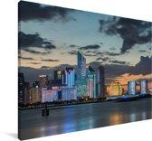 Kleurrijke gebouwen van Hangzhou Canvas 180x120 cm - Foto print op Canvas schilderij (Wanddecoratie woonkamer / slaapkamer) XXL / Groot formaat!