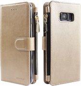 Xssive Wallet Book Case met Ritsvak voor Samsung Galaxy S10e - Goud