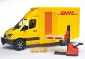 Bruder Bestelauto MB Sprinter DHL en Handheftruck