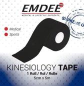 EMDEE kinesio tape zwart non-cut