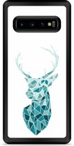 Galaxy S10 Hardcase hoesje Art Deco Deer