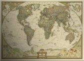 Vintage Antieke Wereldkaart 72,5 x 42,5cm