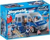 PLAYMOBIL Politie interventiewagen met wegversperring  - 9236