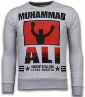 Local Fanatic Muhammad Ali - Rhinestone Sweater - Grijs - Maten: M