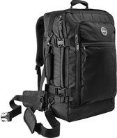 CabinMax Metz Plus – Handbagage - Rugzak 44l– Schooltas - 55x40x20cm – Lichtgewicht - Zwart (MZ + )