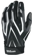 AD Clutch YOUTH American Football Receiver Gloves - Black/White