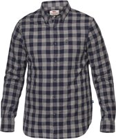 Fjallraven Ovik Check Shirt LS - heren - blouse lange mouwen - maat XXL - blauw/grijs ruit