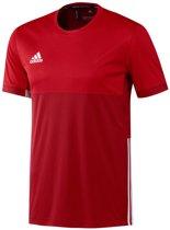 adidas T16 'Oncourt' Short Sleeve Shirt Heren - Shirts  - rood - XL