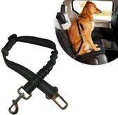 Luxe Autoriem Hond Hondengordel / Elastische en Verstelbare Auto Gordel / Riem voor Huisdieren / Veiligheidsgordel / One Size / Zwart