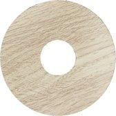 Zelfkl. rozet (17 mm) eiken wit getint (10 st.)