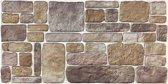 5 panelen (2.5 m²) 100 x 50 cm. 3D wandpanelen, wandbekleding, piepschuim steenstrips, muurbekleding, brickstone verharde tempex, gevel bekleding, isolatie panelen, decoratie wandpanelen code 240