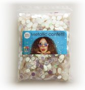 Confetti metallic round 10mm - 250 gram - iridescent