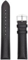 Hirsch Horlogeband -  Highland Zwart - Leer - 22mm