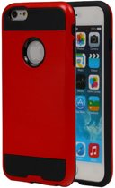 Rood Bestcases Tough Armor TPU Back Cover Case Apple iPhone 6/6S Hoesje