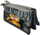 Garfield Boys Etui - School - 3 Vaks 3 Ritsen - Multi Colour - 22 x 10 x 6cm