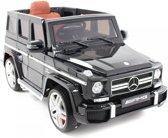 KinderCar Mercedes G63 AMG | Elektrische kinderauto 12V | Afstandsbediening + Mp3 | Metallic Zwart  | Leer