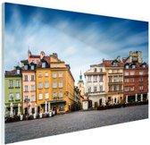 Stadsplein Warschau Glas 30x20 cm - Foto print op Glas (Plexiglas wanddecoratie)