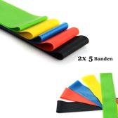 2 Sets | 5 Weerstandsbanden Resistance Power Band Set inclusief handige TravelPouch