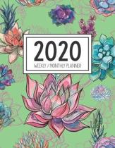 2020 Weekly Monthly Planner: Monthly Calendar - Weekly Organizer - Monday Start - Green Cover - January 2020 - December 2020