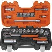Bahco S330 dopsleutelset 1/4'' en 3/8'' 34-delig