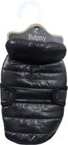 Hondenjas quilted nylon zwart, 35 cm.