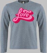 Longsleeve M Love - Zandgrijs - M - XXXXL Sportshirt